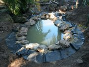Pond under construction.